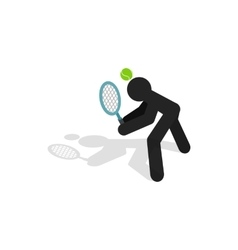 Tennis returner icon isometric 3d style vector image vector image