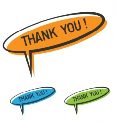 thank you bubble vector image vector image