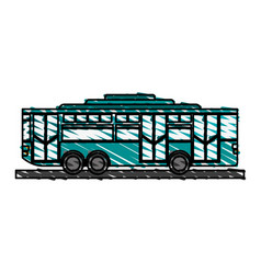 Toy bus graphic vector