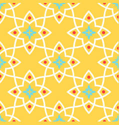 yellow arabic ornamental ceramic tile vector image