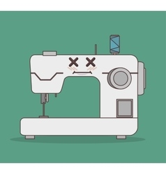 Sewing machine character icon vector