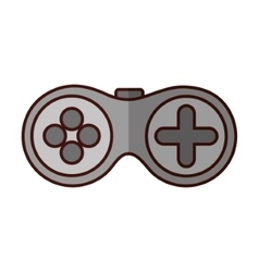 Gamepad videogame console vector