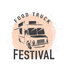 Street food truck graphic vector