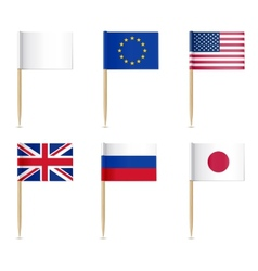 Flags toothpick vector