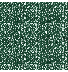 Seamless pattern with numbers for school design vector