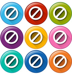 Colourful circle buttons with locks vector