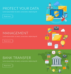 Flat design concept for internet security vector