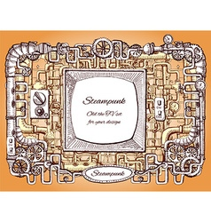 Steampunk background vector
