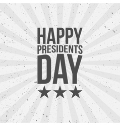 Happy presidents day text vector