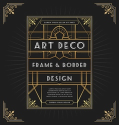 Art deco frame design for your design vector