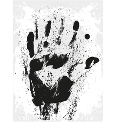 Abstract grunge hand vector image vector image
