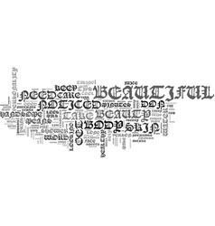 Beauty tips text word cloud concept vector