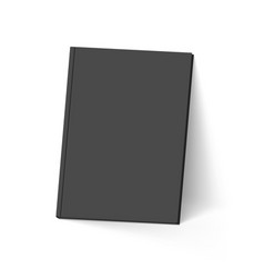black book on white mockup template vector image vector image