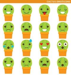 Cactus emoticons vector