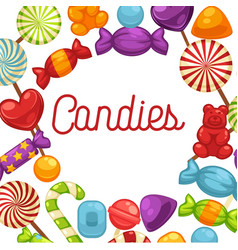 candies sweets and confectionery candy comfits vector image