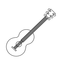 Classical guitar icon outline style vector image