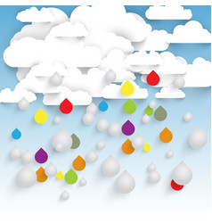 Colorful rain from clouds vector