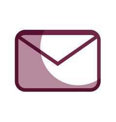 Contour letter message to communication concept vector