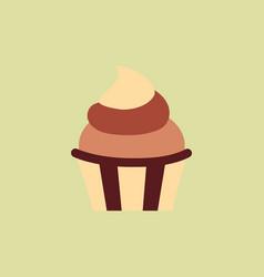 Creamy cupcake vector