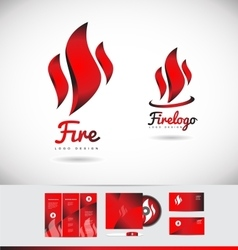Fire flame logo icon shape design vector