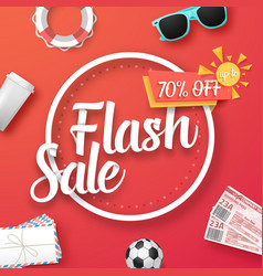 Flash sale poster vector