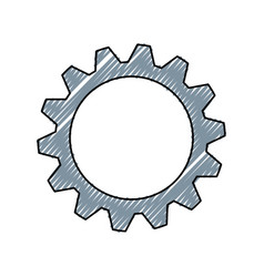 gear machinery engine vector image
