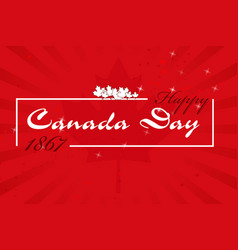 happy canada day7 vector image vector image