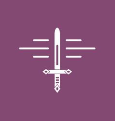 Icon ancient sword vector