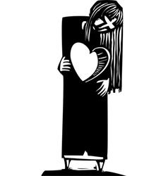 Lost Heart vector image vector image
