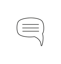 message chat bubble icon vector image vector image