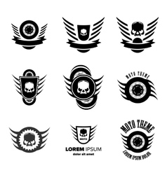 Moto wheel logo symbols vector