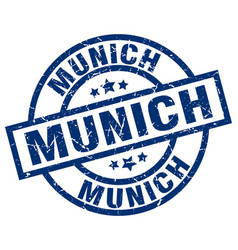 Munich blue round grunge stamp vector