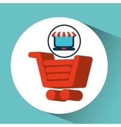 Online shopping cart concept vector