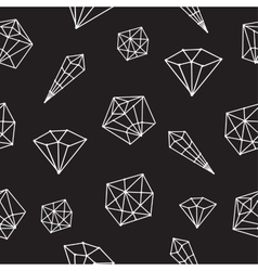 Seamless pattern crystal geometric vector image vector image