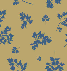 Seamless pattern design with parsley leaves vector