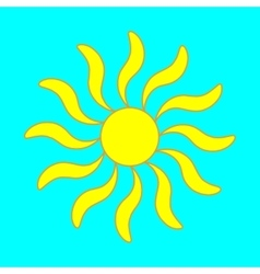 Sign of sun 305 vector image vector image