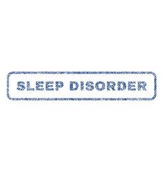 Sleep disorder textile stamp vector