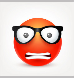 smileyemoticon red face with emotions facial vector image