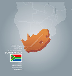 South africa information map vector