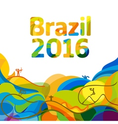 Summer color of Olympic games 2016 wallpaper vector image vector image