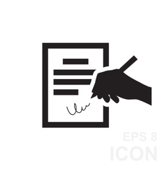The contract icon Agreement and signature pact vector image vector image