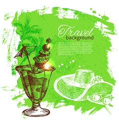 Travel and holiday background vector image