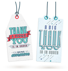 Vintage thank you tags vector