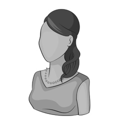 Woman avatar in dress icon gray monochrome style vector image vector image