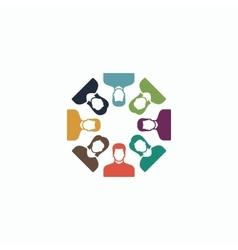 Work team concept vector image