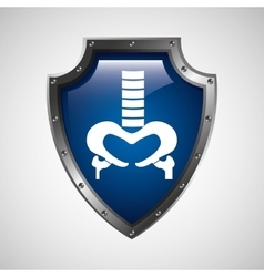 Symbol x-ray body health icon vector