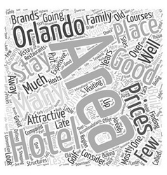 Where to stay in orlando word cloud concept vector