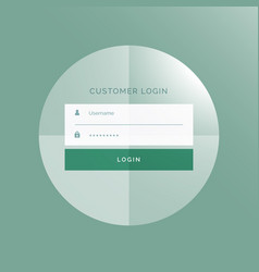 Modern login form ui design vector