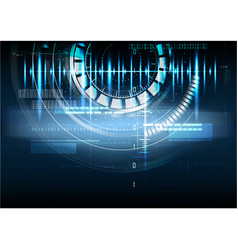 technological abstract pulse digital interface vector image