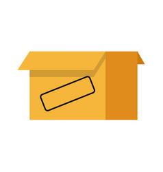 cardboard box icon open empty container carton vector image